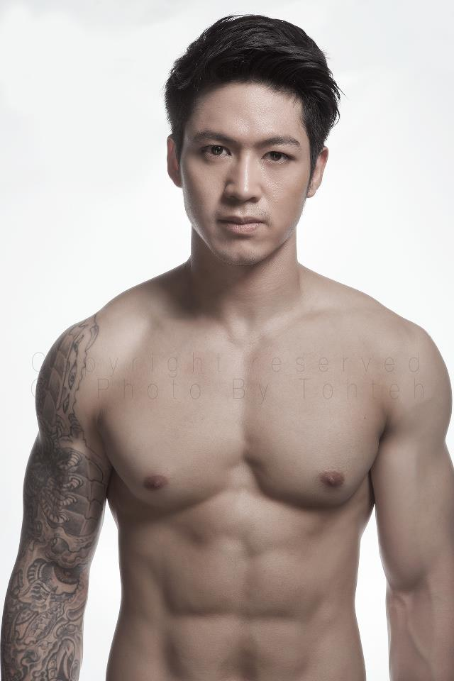 Asian male modeling
